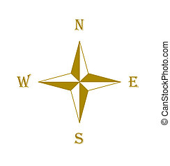 Compass rose - Brown compass rose - vector illustration.