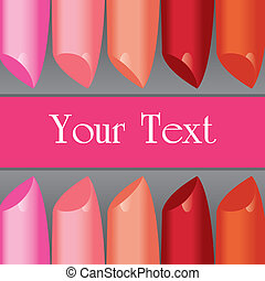 vector colorful lipstick label board