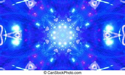 Blue abstract kaleidoscopic loop - Blue abstract...