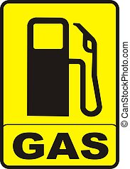 Gas Pump Caution Sign - yellow gas pump caution sign...
