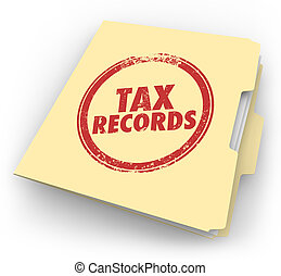 Tax Records Manila Folder Stamp Audit Documents FIle - Tax...