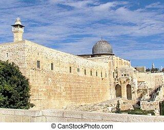 diciembre,  al-aqsa, jerusalén, mezquita,  2012