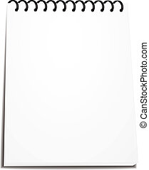 vector spiral notebook stack of ring binder isolated