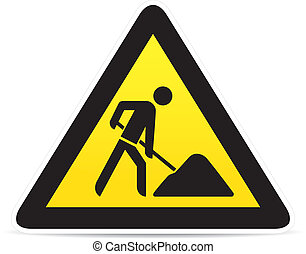 building construction site warning sign