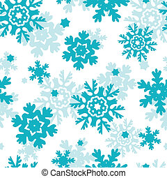 Blue Frost Snowflakes Seamless Pattern Background - vector...