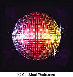 disco ball night vector