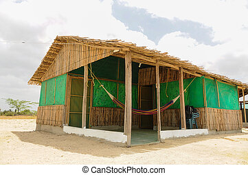Traditional Hut at Desert of Guajira, Colombia. - Traveling...