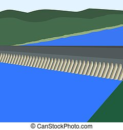 Hydroelectric power station - Modern hydroelectric power...