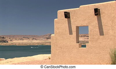 Lake Powell - Shore of Lake Powell at a Southwest abode...