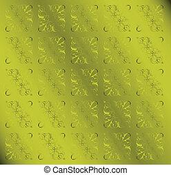 Green Floral Pattern Vintage Background
