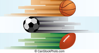 Sports equipment-1 - Balls for basketball, soccer, rugby,...