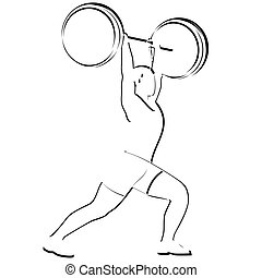 Weightlifter - Abstract image of the sportsman. Illustration...