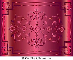 Vintage Pink Background Design with