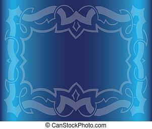 Vintage Royal Background Dark Blue