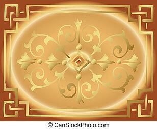 Vintage Golden Background Design