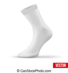 Realistic layout of white socks. A simple example. vector -...