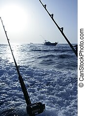 Mediterranean fishing in blue ocean