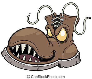 Boots - Vector illustration of Monster Boots