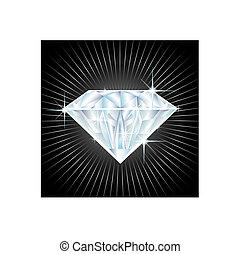 big diamond  - illustration of a big diamond