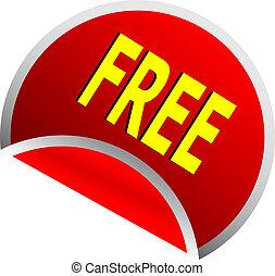 rouges, gratuite, bouton