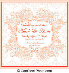 Wedding invitation - head page