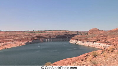 Glen Canyon Dam, Lake Powell, zoom in