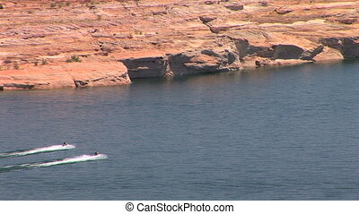 Lake Powell - Jet Skis on Lake Powell, Glen Canyon National...
