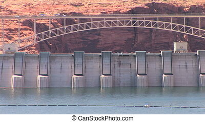 Glen Canyon Dam - Bridge over Glen Canyon Dam, Lake Powell