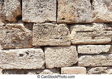 Ancient castle texture - Pamukkale ancient castle texture