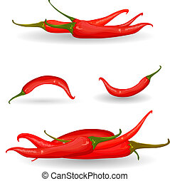 collection red chili pepper