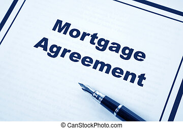 Mortgage Agreement and pen close up