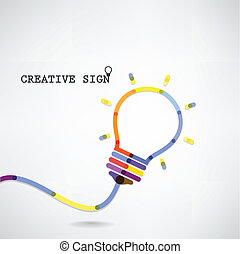 Creative light bulb Idea concept background ,design for...