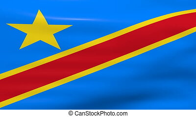 Democratic Republic of the Congo - Waving Democratic...