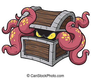 Octopus - Vector illustration of Cartoon Octopus
