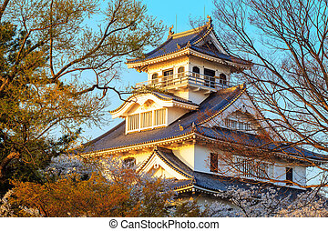 Nagahama Castle - Shiga Prefecture, Japan - April 13, 2013:...