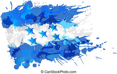 Flag of Honduras made of colorful splashes