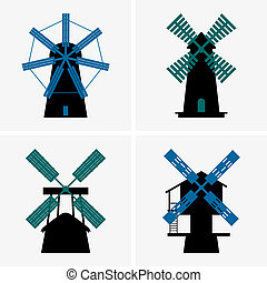 Windmills - Set of Windmills