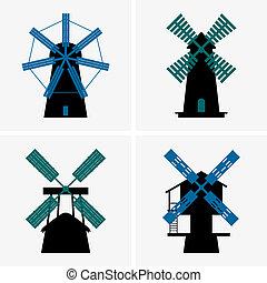 Windmills - Set of Windmills