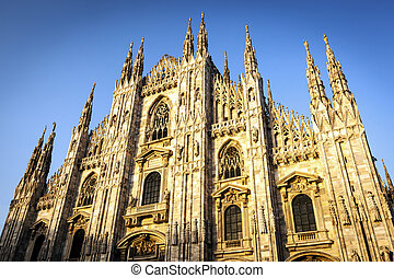 Milan Cathedral at Sunset
