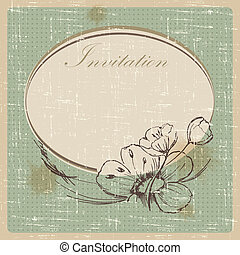 Invitation cards in an old style. vector illustration