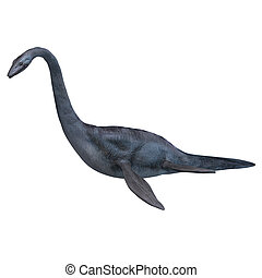 Elasmosaurus - rendering of the giant sea dinosaur...