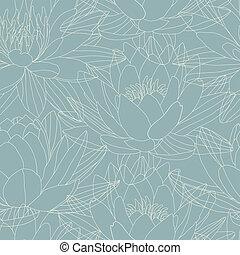 Lotus flowers in seamless pattern