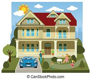 Family house (diorama)