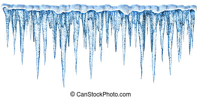 Icicles - Blue cold icicles with an alpha channel