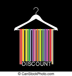 colorful DISCOUNT barcode