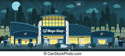 Shopping in the night city