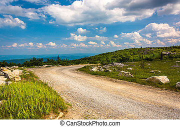 Forest Road 75 at Bear Rocks Preserve, in Dolly Sods Wilderness,