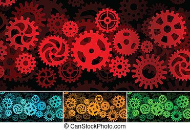 Inside the machine (abstract pictur - Vector illustration of...