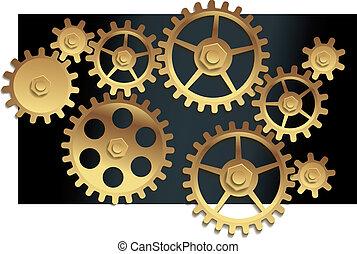 Vector machine gears