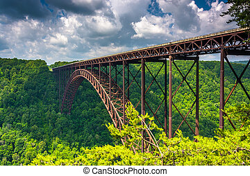 The New River Gorge Bridge, seen from the Canyon Rim Visitor...